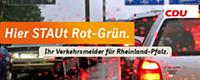 Hier staut Rot-Grün - Aktionsseite der CDU Rheinland-Pfalz
